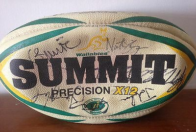 Wallabies Signed Rugby Ball by 2004 Squad. Fantastic! With Cert.
