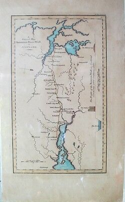 Antique Engraved Map of Antoninus Pius's Wall in Scotland Printed in London 1789