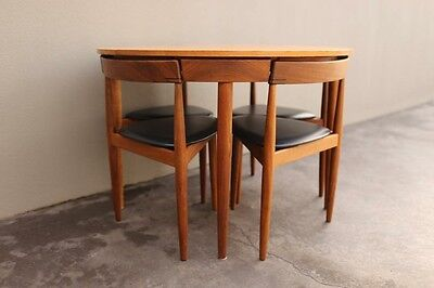 Extendable Dining Table with Six Chairs by Hans Olsen for Frem Røjle