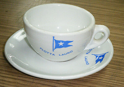 Vintage c1960s SS Flotta Lauro Shipping Line Cup & Saucer