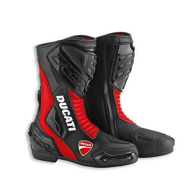 Genuine Ducati Sport 13 Red/Black Motorcycle Road Boots by TCX - Size 41 and 42