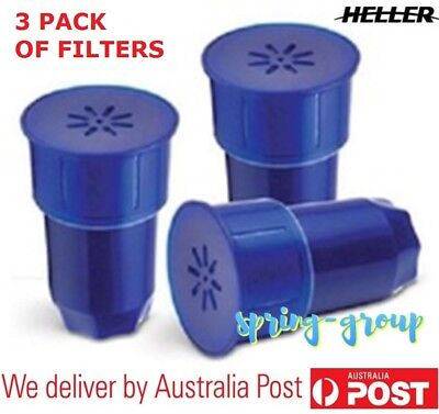 Heller 3x Replacement Water Filters Drink Cooler Dispenser Carbon Resin Filter