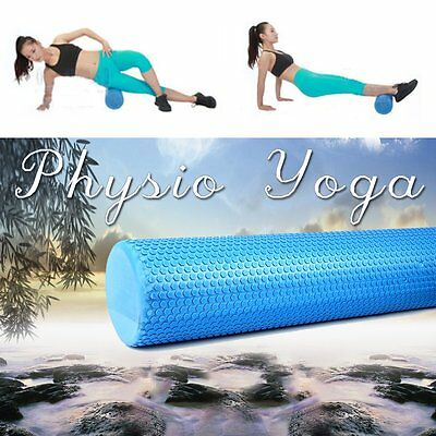 Pilates Foam Roller Long Physio Yoga Fitness GYM Exercise Health Training 90CM