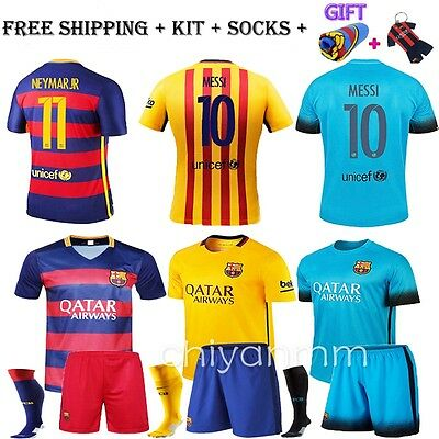 16 Jersey Football Club kit for MEN Messi Home Away Boy Soccer Youth With Socks