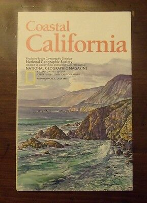 National Geographic Map Coastal California July 1993