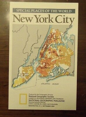 National Geographic Map Special Places Of The World New York City September 1990