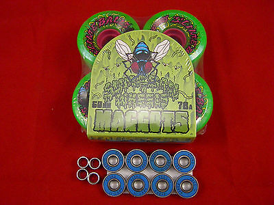 SANTA CRUZ SLIMEBALL MAGGOTS Re-Issue 60mm/78a SKATE BOARD WHEELS + ABEC 11's