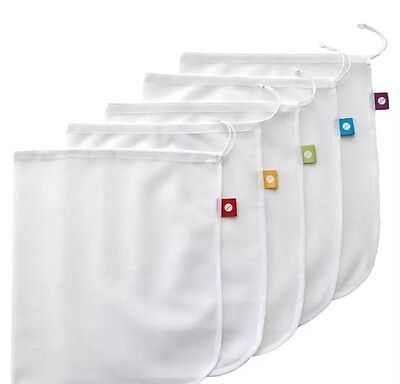NEW SET 5 D.Line Mesh Eco Reusable Produce Bags Keeps Produce Fresher Longer