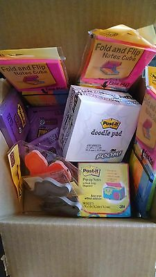 Lot of 11 Packs Of  Post-It Notes-Unique Shape, Pop Up, & Super Sticky.