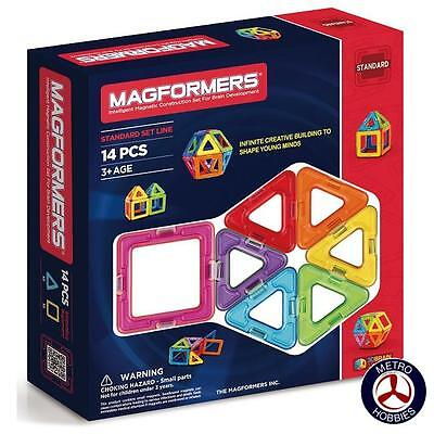Magformers Basic 14 Pce Set 701003 Brand New