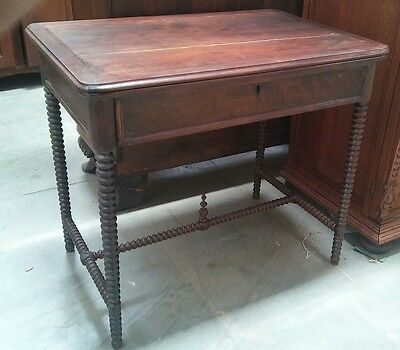 1860's American Spindle TABLE Legs Beautiful W/ DRAWER SOUTHERN CALIFORNIA