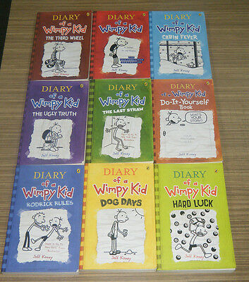 Diary Of A Wimpy Kid Books - Lot of 9 Softcover