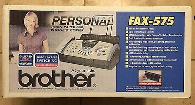 Brother FAX-575 Personal Fax Phone and Copier BRAND NEW