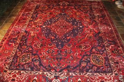 Super Heavy Tribal Weave Natural Dyes Persian Carpet Rug Hamadan 380X303 Runners