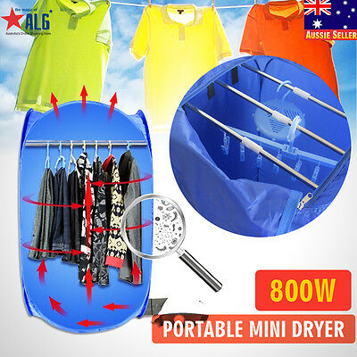 800W Portable Multifunction Electric Air Clothe Dryer Folding Drying Machine Bag