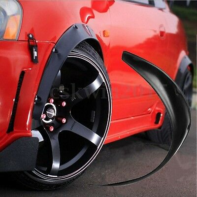 Universal Car Front Wheel Eyebrows Exterior Fender Flare Protective Strip Black