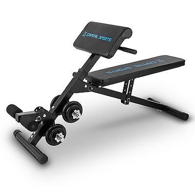 Banc Sit'n Curl Capital Sports ━ Banc Multifonctionnel Set Halteres 20Kg Fitness