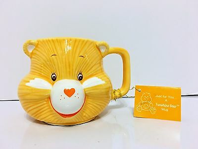 Vintage Care Bears Funshine Bear Mug Cup With Original Tag Cute Kawaii vtg