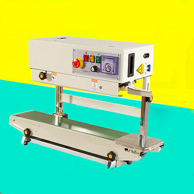 FR-770 Plastic Bag Soild Ink Continuous Band Sealer Automatic Sealing Machine
