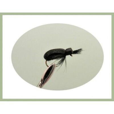 Beetle Trout Flies, 6 Pack Black Beetle, Choice of Sizes, For Fly Fishing