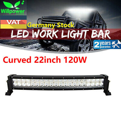 24inch 120W Led Work Light Bar Curved UTE SUV ATV 4x4 Offroad Truck Jeep Ford 20