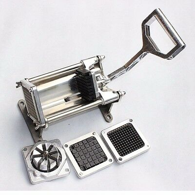 New Commercial Hand French Fry Fries Making Machine Potato Chip Cutter UK Ship