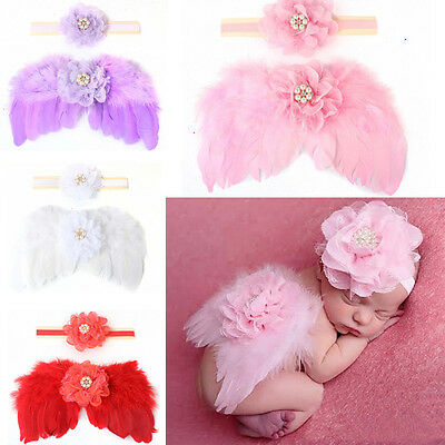 Angel Wings Wing Set headband Feather Photography Prop Nice Fit for Newborn Baby