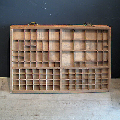 Vintage Printers Wooden Letterpress Type Tray Collectors display