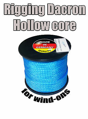 1.7mm Rigging Dacron Hollow Core - to Make Wind-on Leaders. Made in Germany