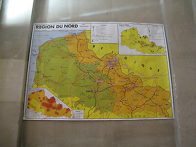Original Vintage French School Poster - Classroom Diagram - Map