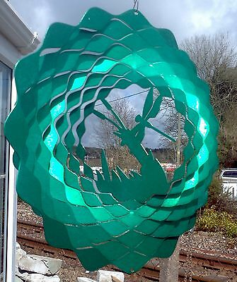 DRAGONFLY 12 inch (300mm) IRON STOP 3D WIND SPINNER. Garden ornament FREE P&P