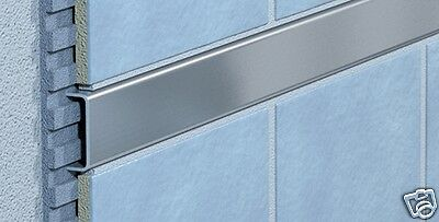 Stainless steel rail Stainless steel trim Tile profile Tile rail 100 cm ( B 15 )