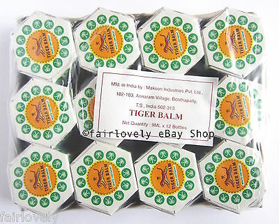 Pack of 12 Jars x 9ML White Tiger Balm Muscle Pain Relief ( Red Also Available)