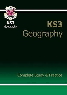 KS3 Geography Complete Study  Practice by CGP Books Paperback Book New