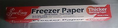 Sew Easy Quilters Freezer Paper 45cm x 2metres with thicker backing paper