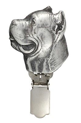 Cane Corso, silver covered clipring, number holder, high qauality Art Dog UK