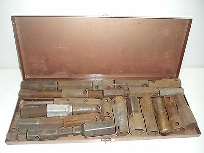 Lot Of 28 Misc. Antique/vintage Sockets  With Nice Metal Box      0413-1