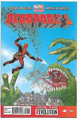Deadpool #1 (2013, nm 9.0) Tony Moore & Val Staples art - first printing