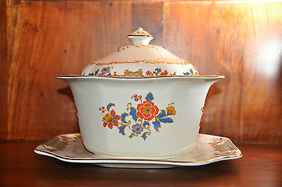 Antique Keeling & Co Losol Ware Dinnerware Tureen with Lid and Dish (1290)