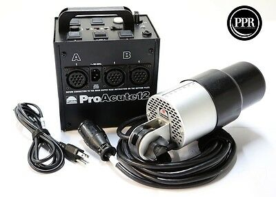 Profoto Pro Acute 12 1200ws Power Supply With PA Strobe Head Kit!