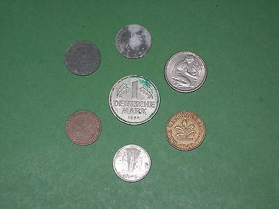 Germany Coin Lot 1942 - 1950 7 Coins All Circulated