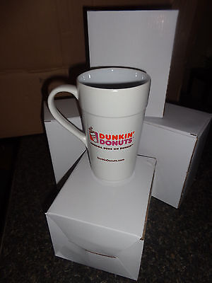 LOT OF 4 Dunkin Donuts 16oz Ceramic Coffee Mug 2013 Edition NEW