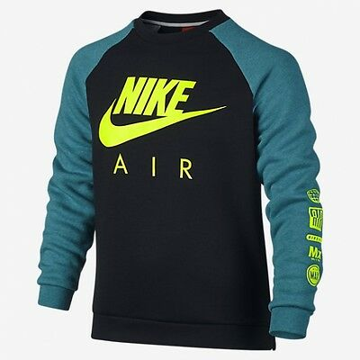 Nike Air Sportswear Crew Fleece Sweatshirt Top Junior Boys  Xs (6-8 Years)