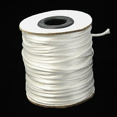 1 Roll White 2mm Fine Nylon Threads Beading Wire Stringing Cords 50yards/roll