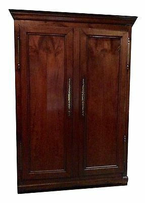 Handsome Antique French C18th Mahogany Armoire Wardrobe Hall Cupboard