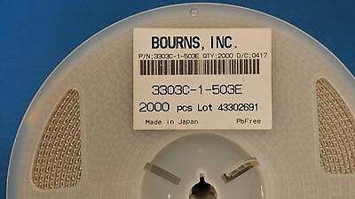 (10 PCS) 3303C-1-503E BOURNS Trimmer Resistors - SMD 3mm 50K 25% Single Slot