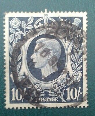 George VI sg 478 Dark Blue, Used