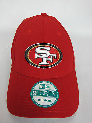 the latest 5ea3d ed319 San Francisco 49ers Hat Cap Red New Era 9FORTY NFL SF One Size Adjustable