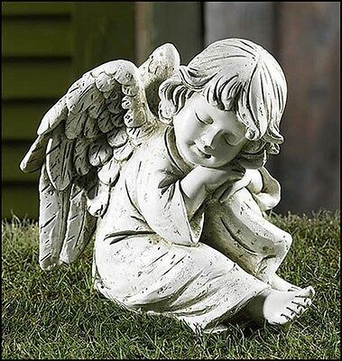 Prayerful Angel Garden Figurine NEW from Gifts of Faith (PA040)