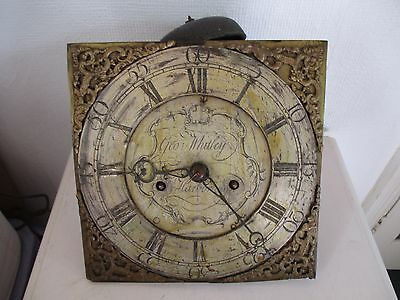 18th CENTURY 8 DAY LONG CASE CLOCK MOVEMENT GEO WHITLEY MARKET HARBOROUGH